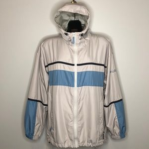 ❤️COLUMBIA packable hooded zippered windbreaker XL
